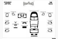 Накладки на торпеду Mitsubishi Carisma (декор панели Митсубиси Карисма)