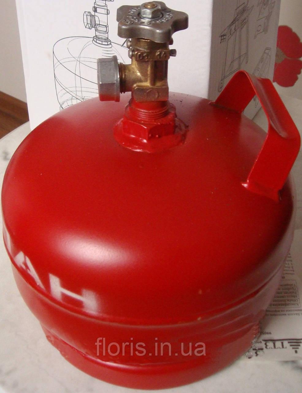 Баллон газовый 5л  с вентилем ВБ-2