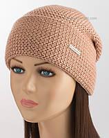 Теплая шапка с отворотом Florens 7 F Uni темная пудра