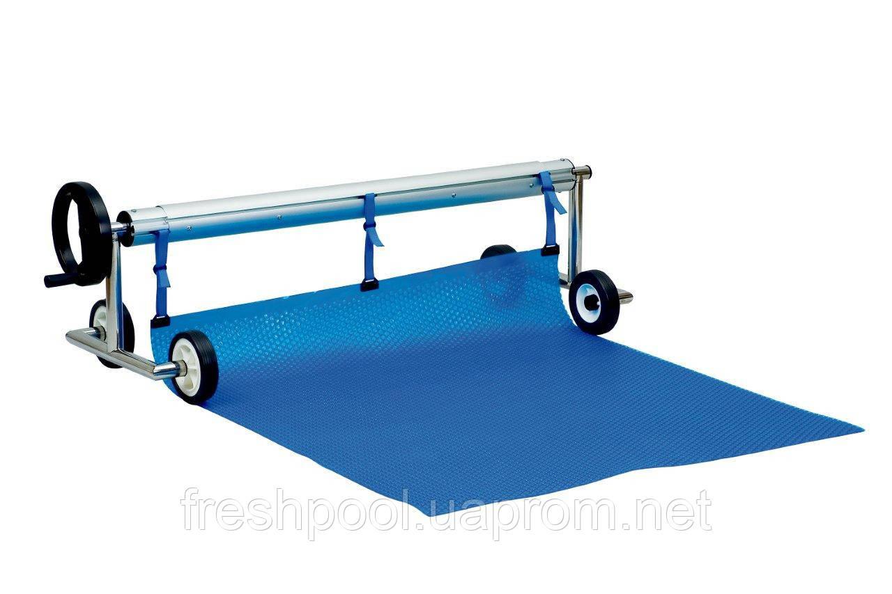 Сматывающее устройство - роллета для накрытия бассейна. 2,7-4,4 м На роликах с двух сторон.
