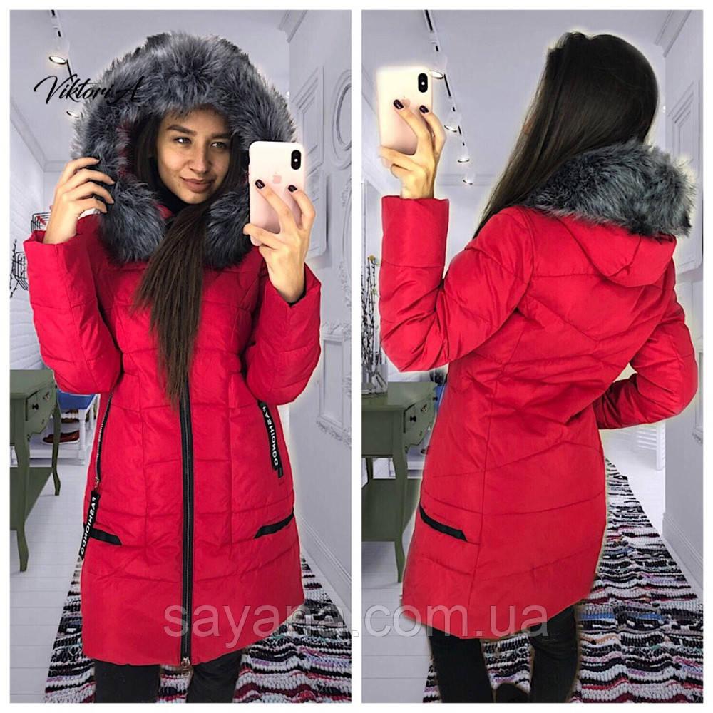 Женская зимняя куртка с капюшоном в расцветках, р-р 48-52. ВИ-15-1-1018