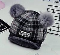 Утепленная кепка для мальчика. 48 см, фото 1
