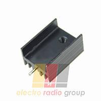 Радиатор для TO220 Ш-образный 15*10*20mm черный