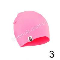 Розовая трикотажная однотонная шапка Bape для подростков и взрослых 54-62см