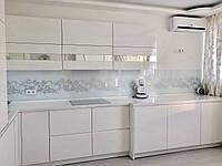 Кухня на заказ Тель-Авив белый глянец столешница акрил  BLUM-072  , фото 1
