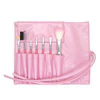 Набор кистей для макияжа в чехле розовый