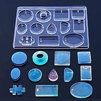 Форма для эпоксидной смолы, Полимерной глины и других материалов, Молд, Микс, Подвески, Силикон, 15.4 x 11.5см