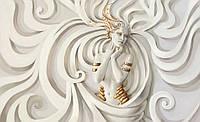 Фотообои на стену Узоры белые и женщина размер 368 х 254 см