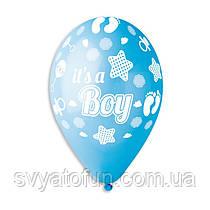 Латексные  шарики Стопа мальчика 100 шт/уп Gemar