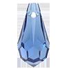 Хрустальные подвески 984 Preciosa (Чехия) 9x18 мм Sapphire 2-й сорт