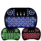 Блютуз с тачпадом и подсветкой для смарт с русской раскладкой ТВ keyboard MWK08/I8 LED TOUCH, фото 4