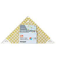 «Проворный» треугольник Prym 611314 с сантиметровой шкалой для квадрата до 15 см