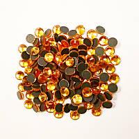 Стразы декоративные DMC SS30 клеевые, темно желтый (280шт)