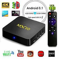 MX10 TV Box - Android 8, RK3328, 4+32, USB 3.0