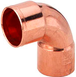"""Коліно мідна для мідної труби 90* 3/4"""" (19,05 мм)"""