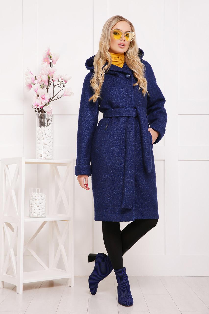 Женское пальто  капюшоном П-304-100 размеры, 42