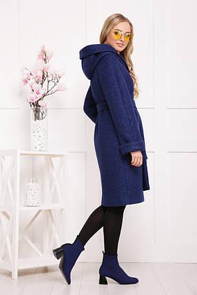 Женское пальто  капюшоном П-304-100 размеры, 42, фото 2