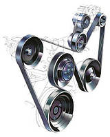 Ремни приводные, ролики и натяжители генератора на Hyundai (Xюндай)