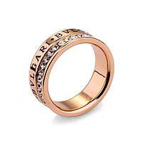 Кольцо BVLGARI ювелирная бижутерия золото 18к 750 проба декор цирконий