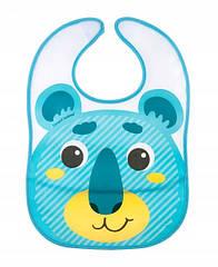 Слюнявчик пластиковый мягкий с карманом  Canpol babies «Hello Little» - 9/232