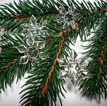 "Декоративный кристалл ""Снежинка"", 2,8  см, 5 шт."