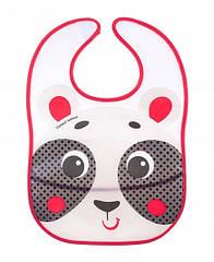 Слюнявчик пластиковый мягкий с карманом «Hello Little» - 9/232