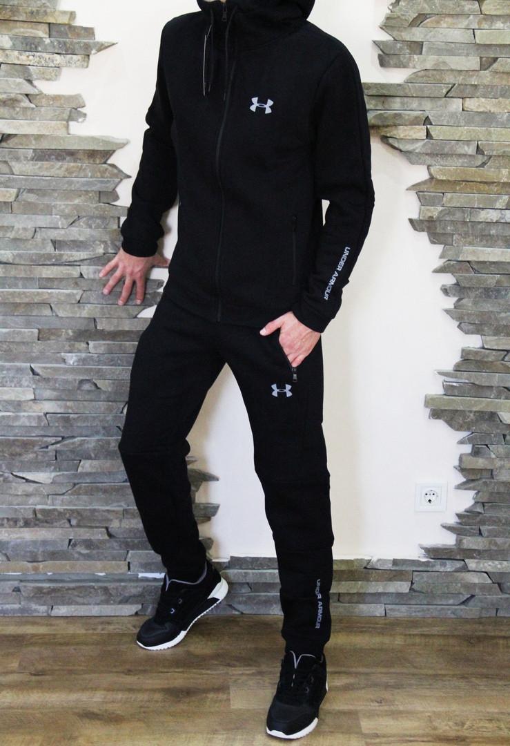 f6db7532 Спортивный мужской теплый костюм Under Armour Андер Армор с капюшоном  черный (реплика) - Что