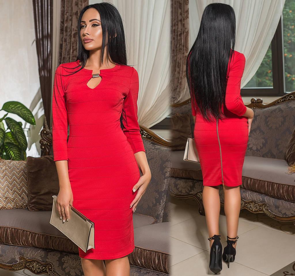 Платье миди  на груди капелька / 2 цвета арт 7201-544