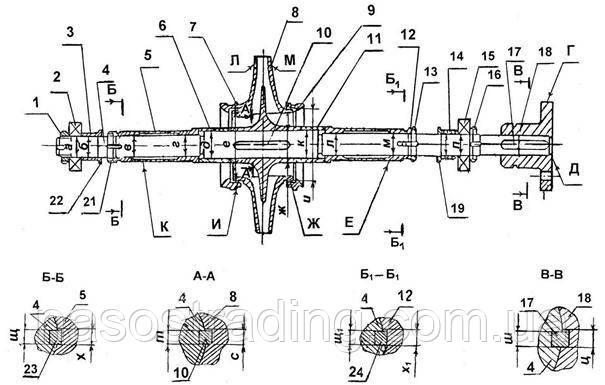 Ротор насоса Д320-70