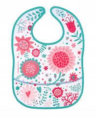 Слюнявчик пластиковый мягкий с карманом Canpol babies Wild Nature розовый 9/234