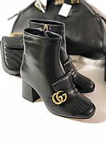 Женские ботинки Gucci натуральная кожа (реплика)