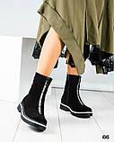 Зимние высокие женские ботинки , фото 2