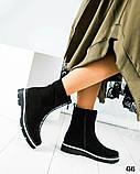 Зимние высокие женские ботинки , фото 3