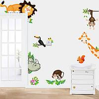 """Интерьерная наклейка на стену в детскую """"Зверушки"""", фото 1"""
