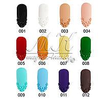 Крем гель для лепки, дизайна ногтей, 5 гр. 12 цветов