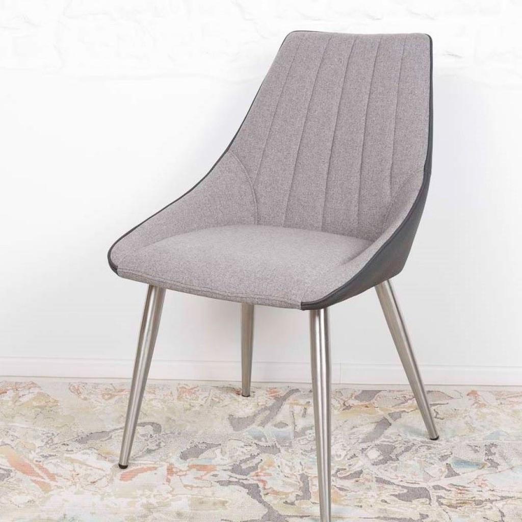 Jackson (Джексон) стул текстиль + кожзам серый