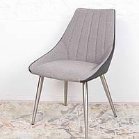 Jackson (Джексон) стул текстиль + кожзам серый, фото 1