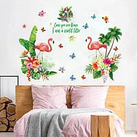 "Виниловая наклейка на стену ""Фламинго"", фото 1"