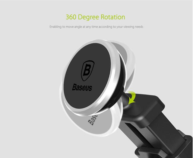 Магнитный автомобильный телескопический держатель для смартфона Baseus Telescopic Design Mechanical Era Car Mount SULX-0S (Серебристый)