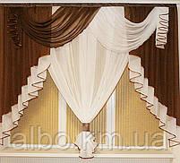 Занавеска в зал спальню гостинную из шифона, красивые занавески для гостинной зала кухни, готовая занавеска, фото 10