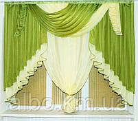 Занавеска в зал спальню гостинную из шифона, красивые занавески для гостинной зала кухни, готовая занавеска, фото 6