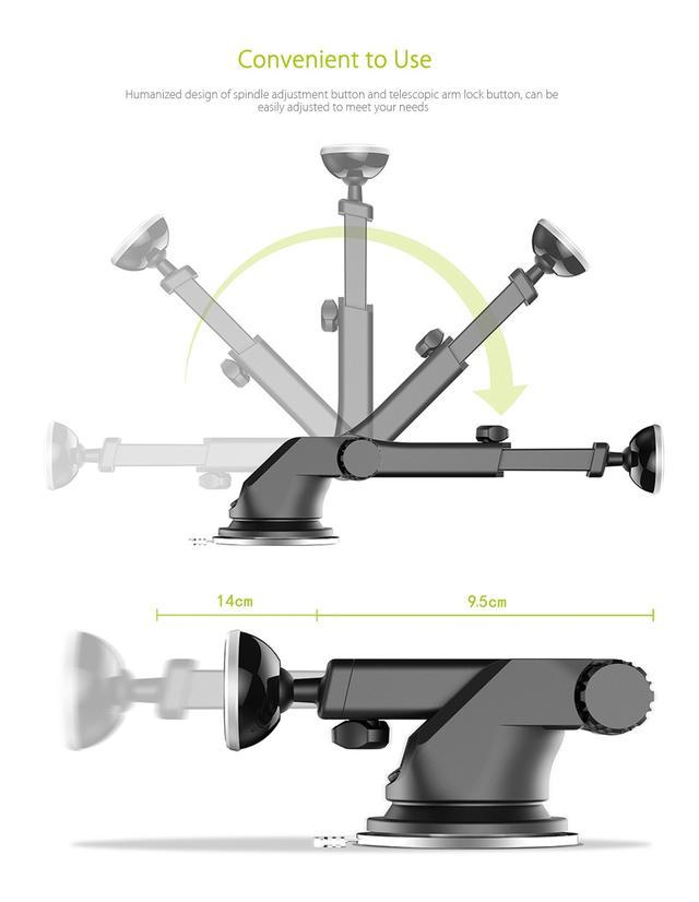 Магнитный автомобильный телескопический держатель для смартфонаBaseus Telescopic Design Mechanical Era Car Mount SULX-0V (Золотистый)