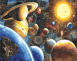 Картина по номерам Планеты солнечной системы, 40x50 см., Rainbow art