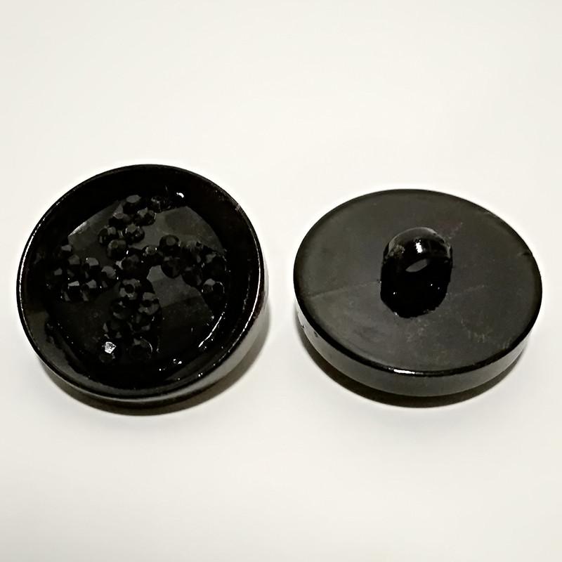 68b31bd811f03 Пуговица для одежды 24мм черный пластик (100шт): продажа, цена в ...