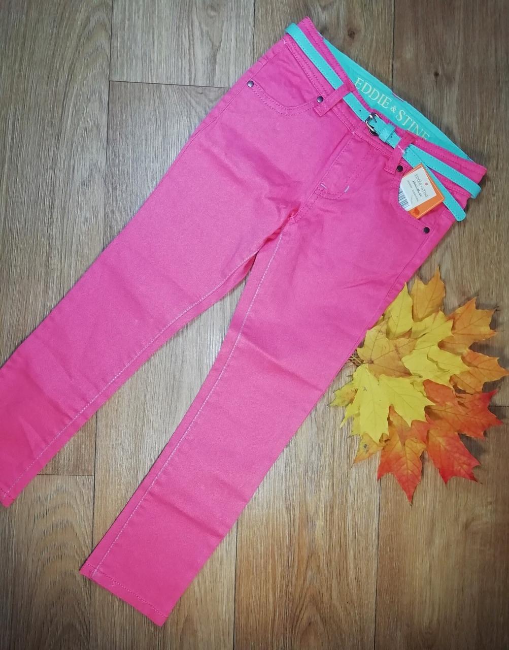 Стильные яркие джинсы-скинни с поясом Eddie&Stine (Размер 5Т)