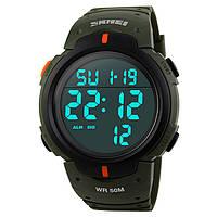 • Гарантия! Skmei(Скмей) 1068 Army Green | Cпортивные мужские часы