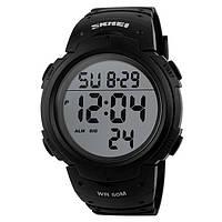 Skmei 1068 Черные мужские спортивные часы, фото 1