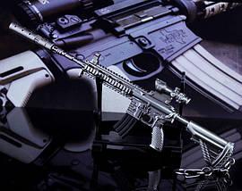 Брелок из игры PUBG M416 Assault Rifle Weapon Keychain, фото 3