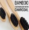 Зубная щетка из бамбука с древесно-угольной щетиной в Боксе - Фото