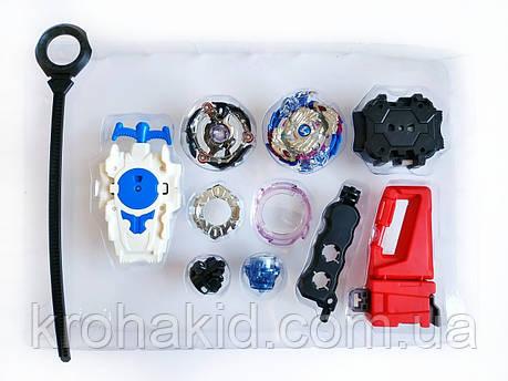 Игровой набор из 2-х волчков BeyBlade с пусковыми механизмами и ручкой для запуска, фото 2